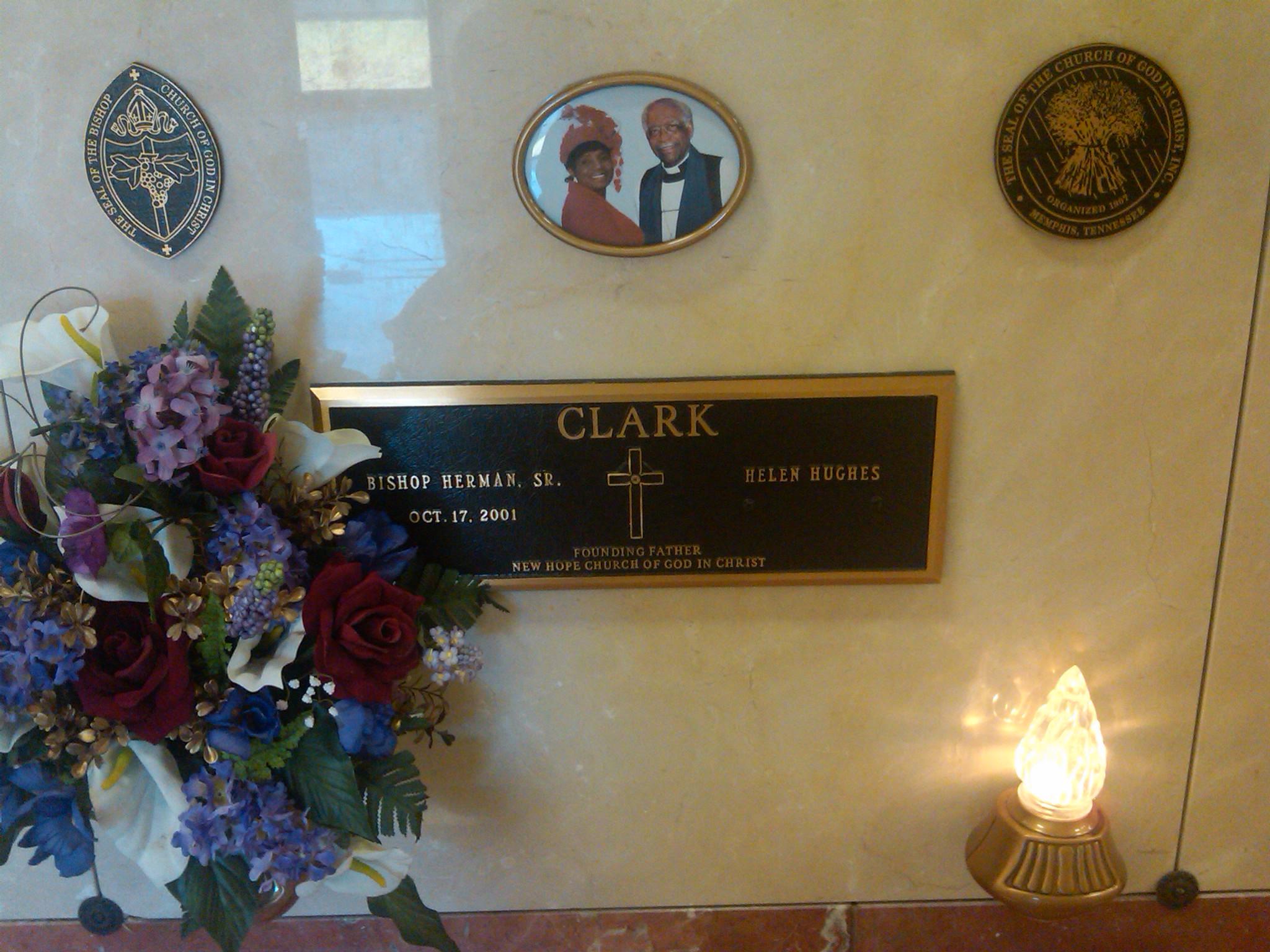 My former pastor, Bishop Herman Clark, Sr.... Gone but never forgotten.