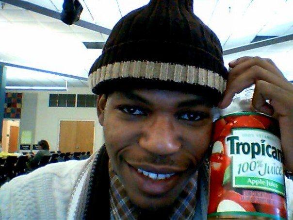 Gotta love apple juice... A BIG bottle of apple juice. At ODU.