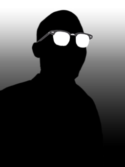 This is a silhouette of me I made...in my G-man frames.